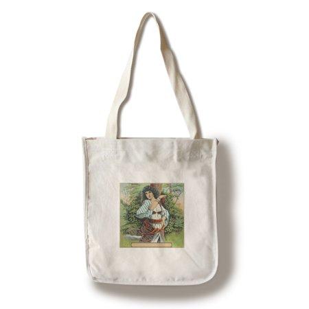Gypsy Woman Tobacco Label  100  Cotton Tote Bag   Reusable