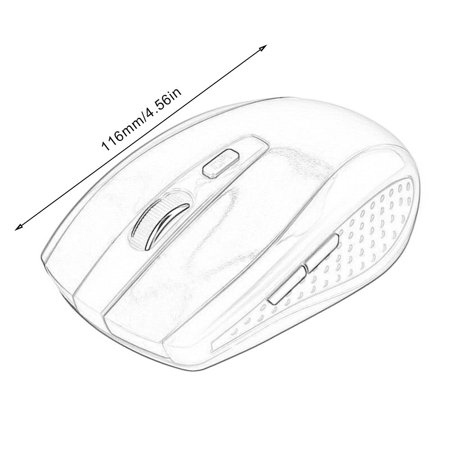 Optical Wireless Mouse Gaming Mice With Usb Receiver For Pc Laptop Macbook - image 7 de 7
