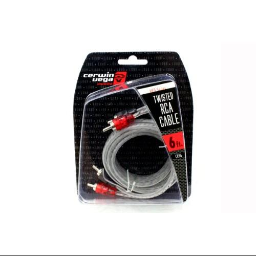 Cerwin Vega CRH6 Twisted Pair Rca Molded 6'