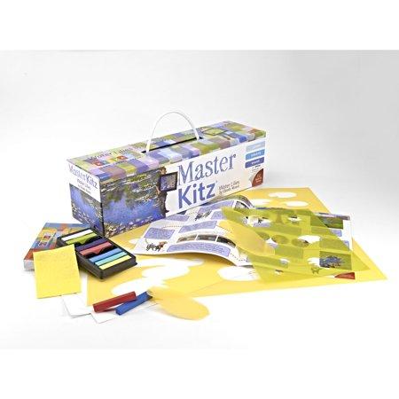 children s master kitz water lilies monet style painting kit