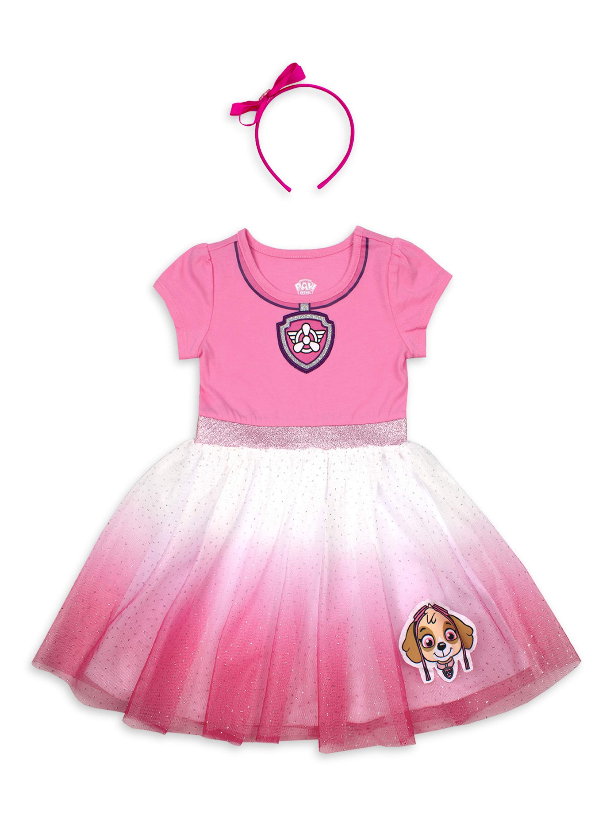 Paw Patrol Costume Tutu Dress with Headband (Toddler Girls)