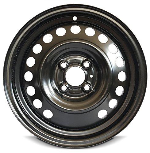 New 15x5.5 Nissan Versa (12-17) 4 Lug Black Full Sized Replacement Steel Wheel Rim Black 4 Lug Full Sized Replacement Steel Wheel Rim