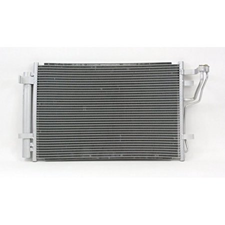 A-C Condenser - Pacific Best Inc For/Fit 3591 07-10 Hyundai Elantra 09-12 Elantra Wagon WITH Receiver &