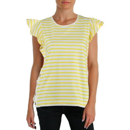 Lauren Ralph Lauren Womens Dezry Striped Short Sleeves T-Shirt