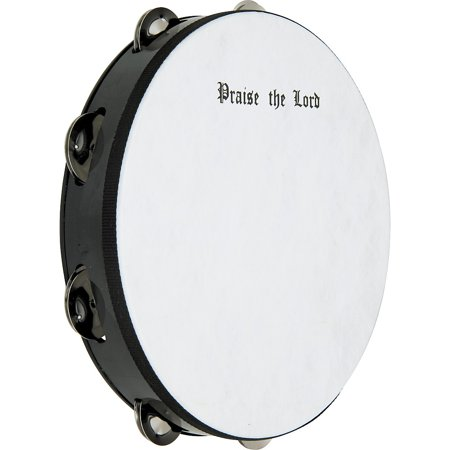 Remo Praise The Lord Tambourine 10 in., 8 Jingles (Tambourines In Bulk)