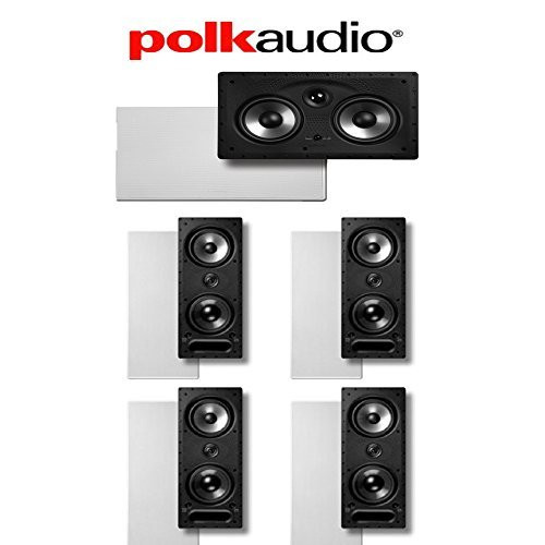 Polk Audio 265-LS and 255C-RT 5.0 Vanishing Series In-Wall Home Theater Speaker System by Polk Audio