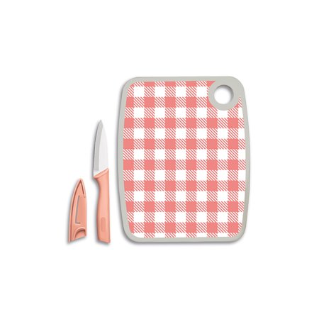 Cook Works Cutting Board and Paring Knife Set (Best Cutting Board For Wusthof Knives)