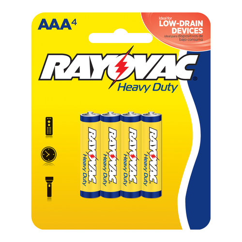 Rayovac Heavy Duty AAA Batteries, 4pk