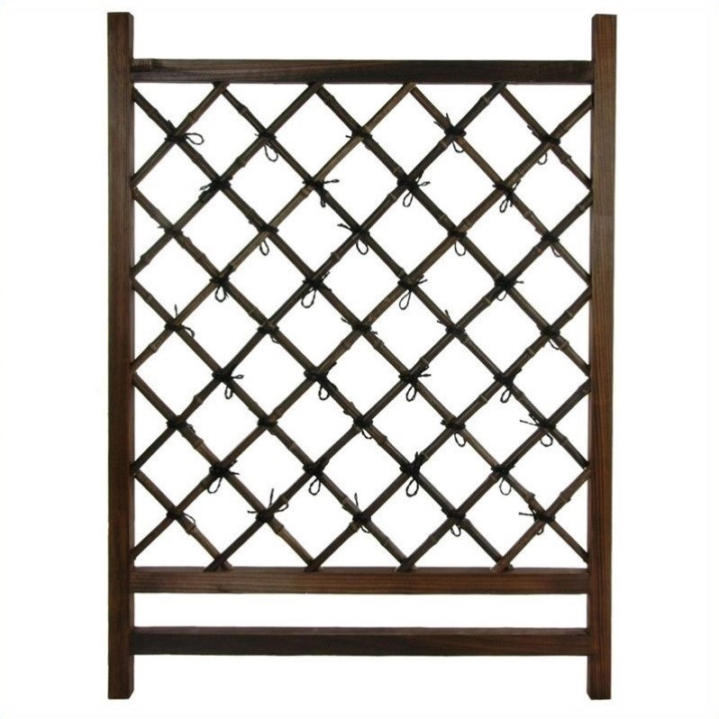 Oriental Furniture Fence Section in Dark Natural