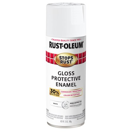 Rust-Oleum Stops Rust Advanced Gloss White Protective Enamel Spray Paint, 12 oz ()