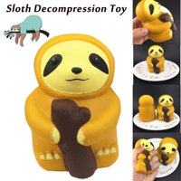 〖Follure〗1PC Cute Sloth Decompression Slow Rising Squeeze Relieve Squishies Toys
