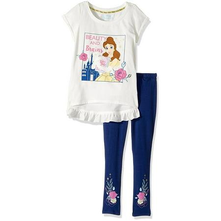 cd11eff14fc4f9 Disney Princess - Beauty & The Beast Belle Toddler Girl Short Sleeve  T-shirt & Leggings, 2pc Outfit Set - Walmart.com