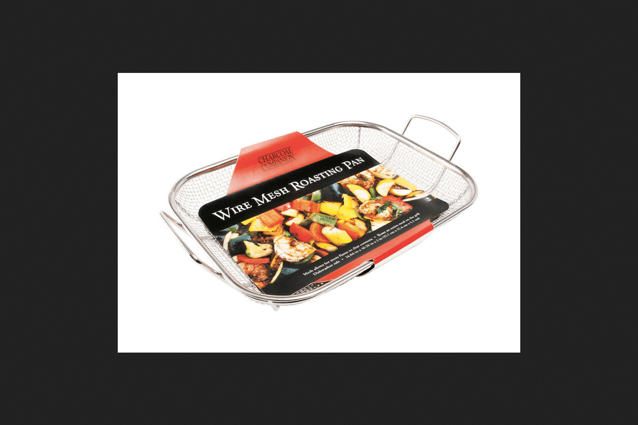 Charcoal Companion Stainless Wire Mesh Roasting Pan by The Companion Group