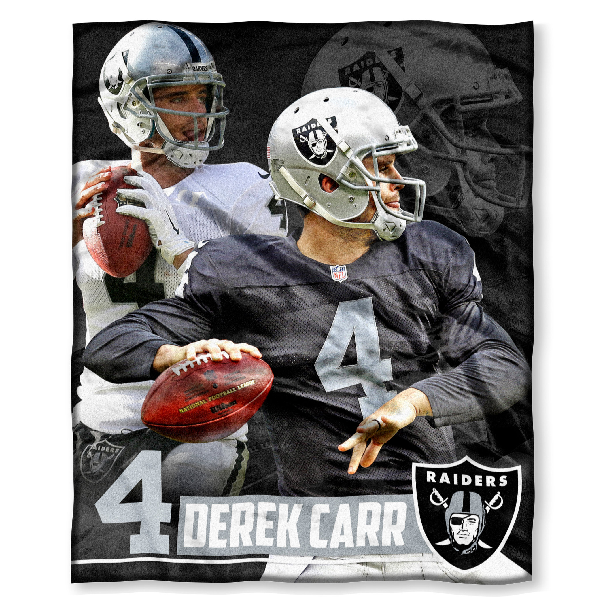 "Derek Carr Oakland Raiders The Northwest Company 50"" x 60"" Silk Touch Throw - No Size"