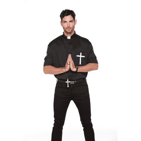 Halloween Wholelalers- The Holy Prayer Men's Dress- Black - Okc Halloween Stores