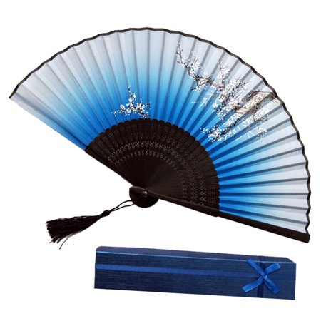 Chinese Style Hand Held Fan Bamboo Paper Folding Fan Party Wedding - Hand Held Paper Fans
