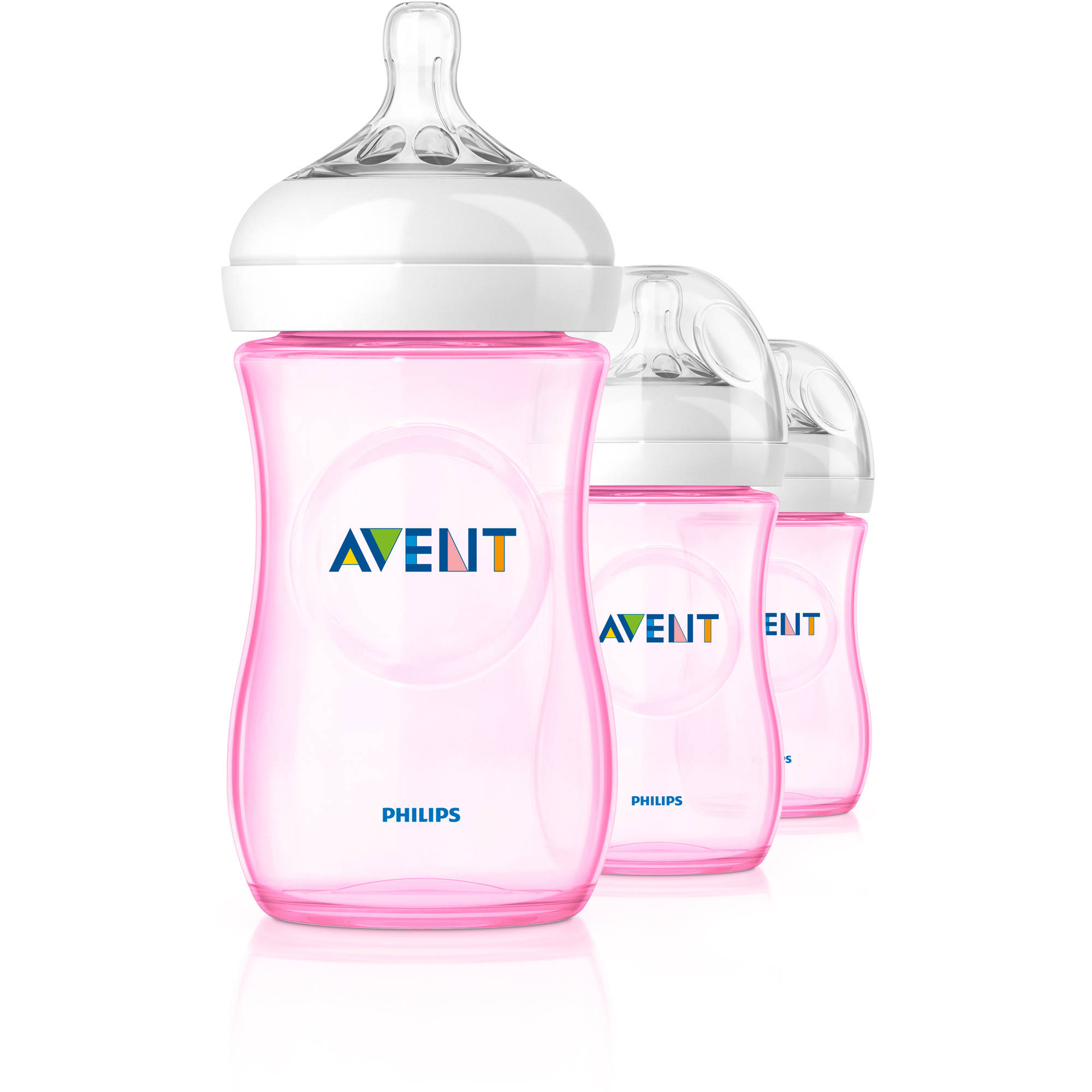 - PINK 9 Oz 3 Wide Neck Bottles Philips Avent Anti Colic Bottle Pack of 4