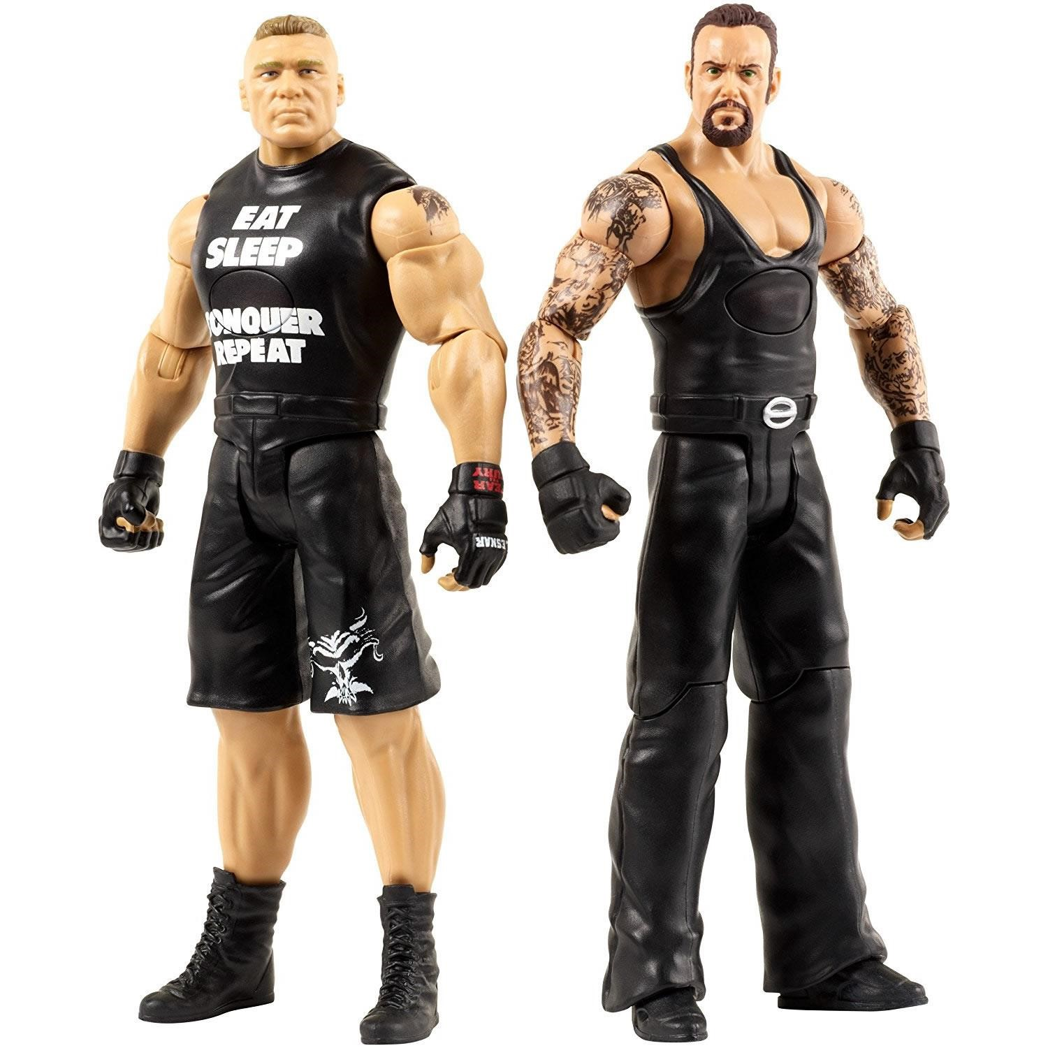 WWE Tough Talkers Undertaker & Brock Lesnar Interacts Figure Mattel DXG94