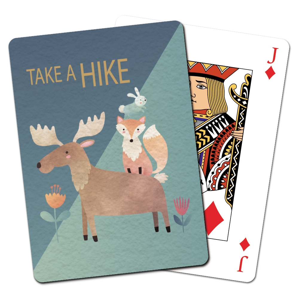 Tree-Free Greetings Moose and Friends Playing Cards -CD15405