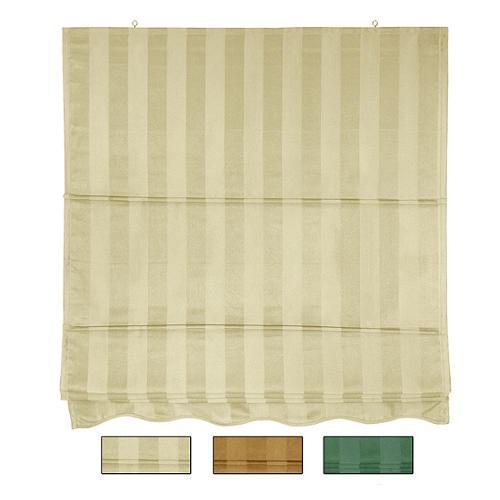 Oriental Home 72-inch Striped Cotton-blend Roman Window Shade