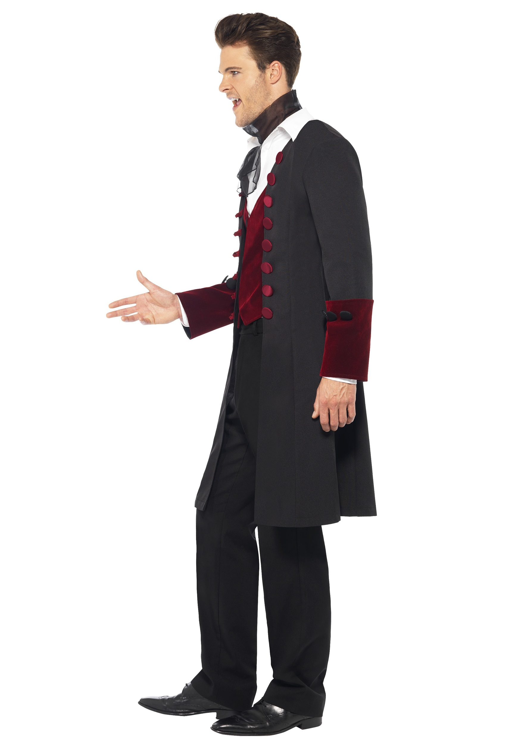 Halloween Fancy Dress Mens Gothic Vampire Costume Dracula Outfit by Smiffys
