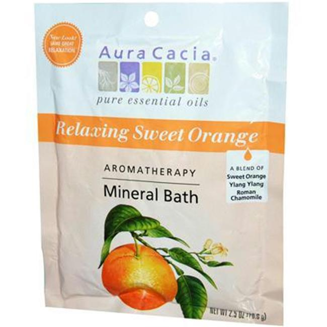 AURA(tm) Cacia AY55372 AURA(tm) Cacia Mineral Bath Relaxing Sweet Orange -6x2.5 Oz