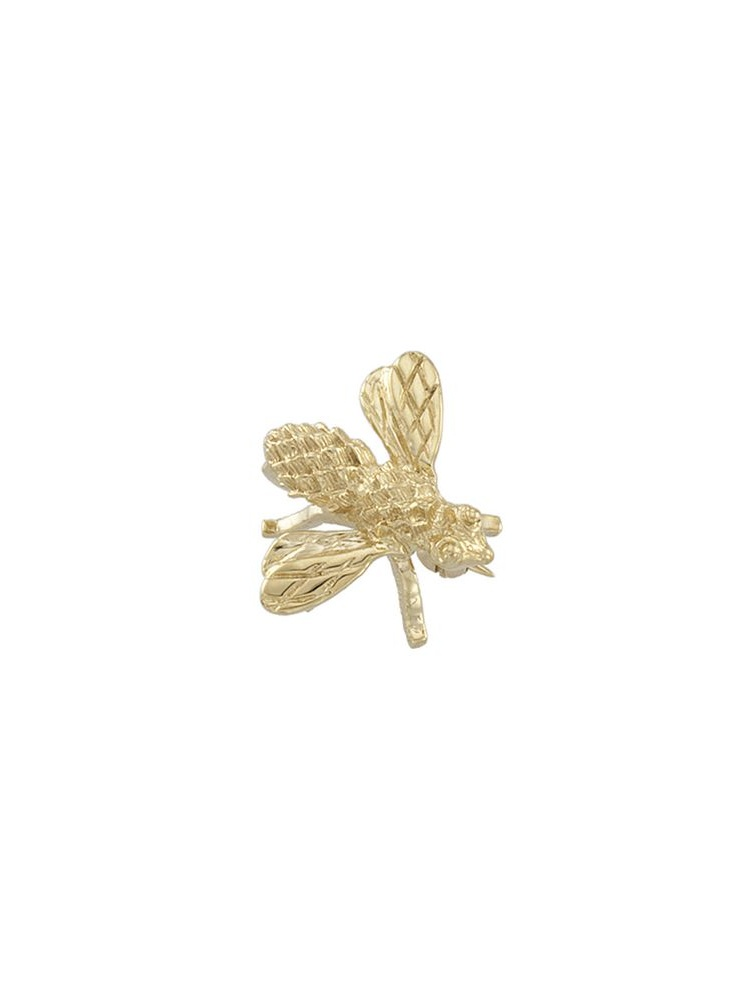 18k Yellow Gold 18x16mm Bee Brooch by