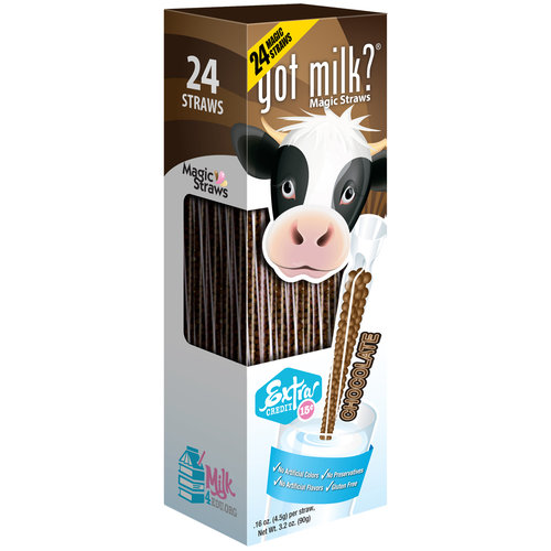 Milk Magic™ Chocolate Milk Flavoring Straws, .16 oz, 24 count