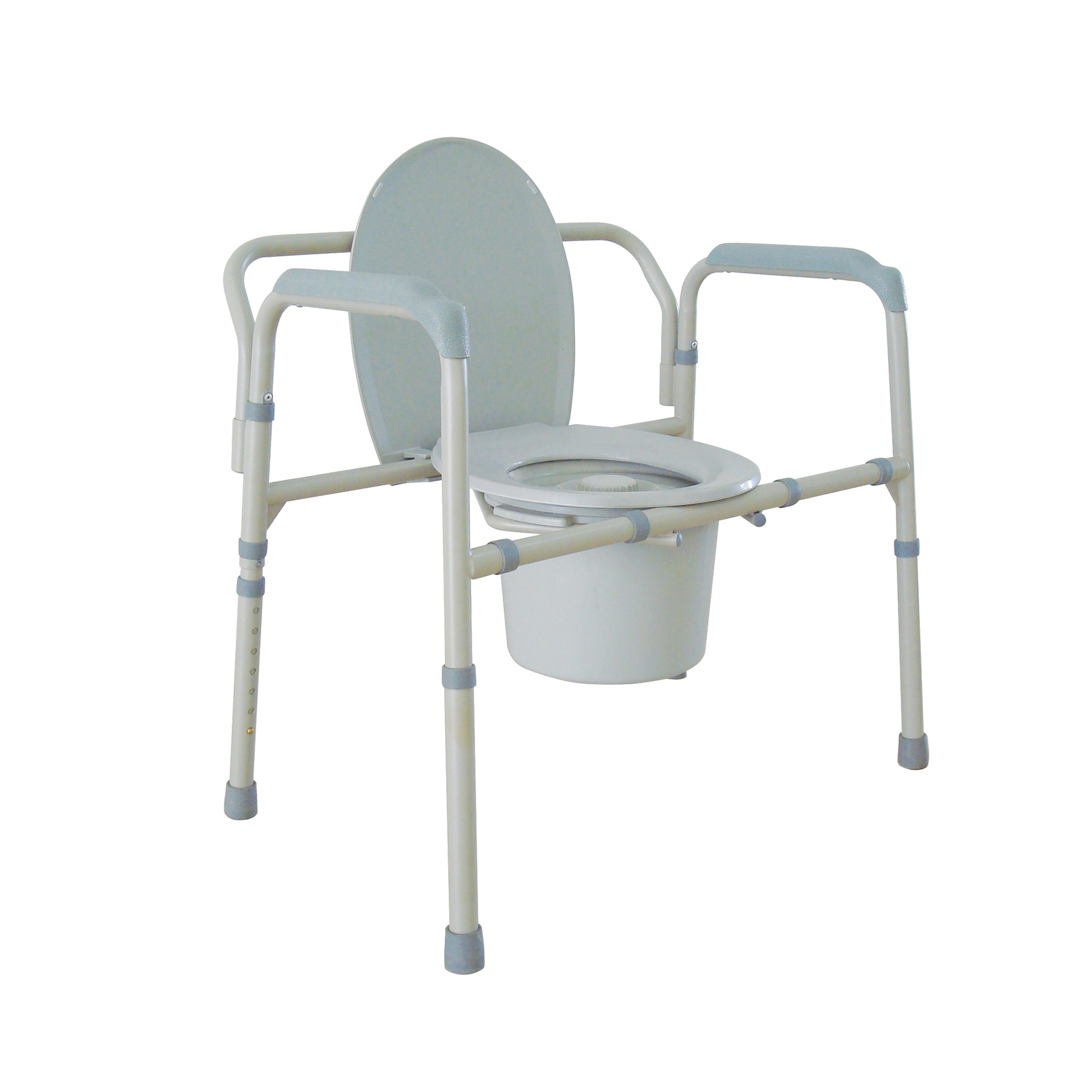 Drive Medical Heavy Duty Bariatric Folding Bedside Commode Chair ...