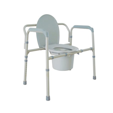 Drive Medical Heavy Duty Bariatric Folding Bedside Commode