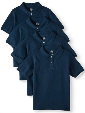 989ee63720819b Product Image School Uniform Short Sleeve Pique Polos, 4-piece Multipack  (Little Boys & Big