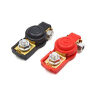 Pair Positive Nagative Car Battery Terminal Clamp Clips Connector w Rubber Cover