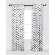 Bacati Dots/Pin Stripes Large Bacati Dots Curtain Panel, Gray