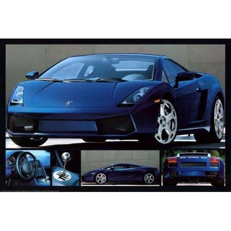 Lamborghini Gallardo Poster 36x24 Walmart Com