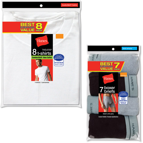 Hanes Men's Value Super Value Pack, T-Shirt and Boxer Brief