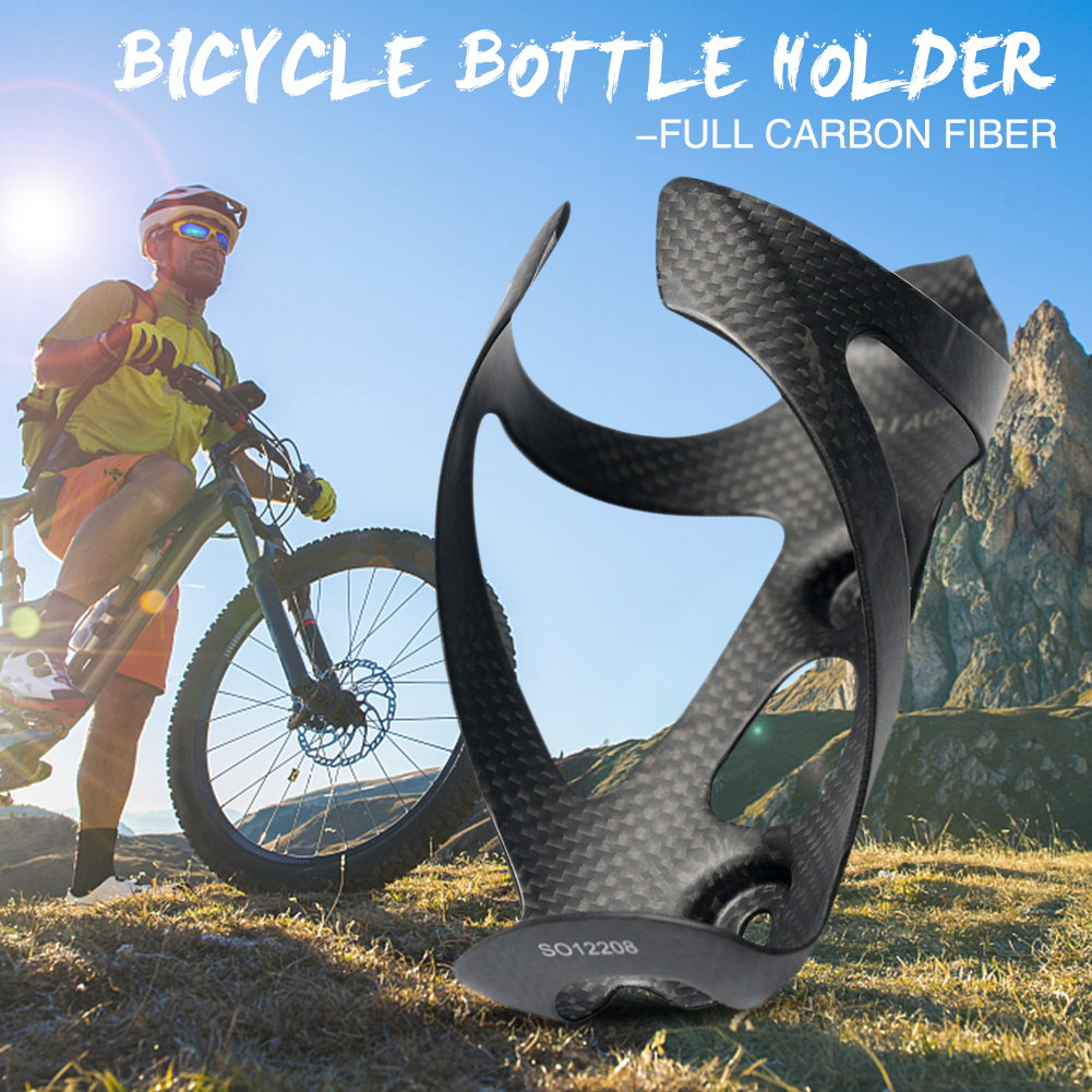 Carbon Fiber Water Bottle Holder Cage for Bicycle Cycling MTB Road Bike Black