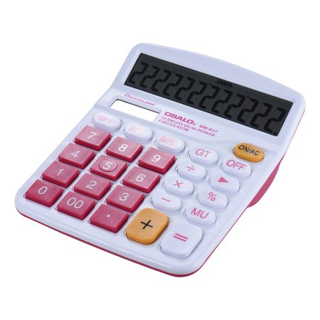 Handheld Colorful Standard Function Desktop Electronic Calculator Solar and Battery Dual Powered 12