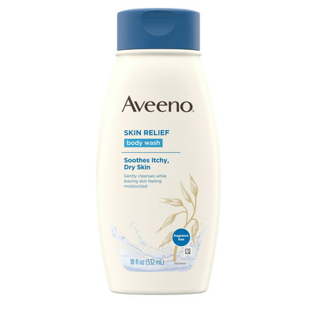 Aveeno Skin Relief Fragrance-Free Body Wash for Dry Skin, 18 fl. oz
