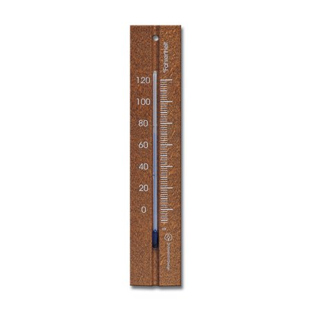Wall Thermometer 7.8 inch Beechwood Walnut Finish