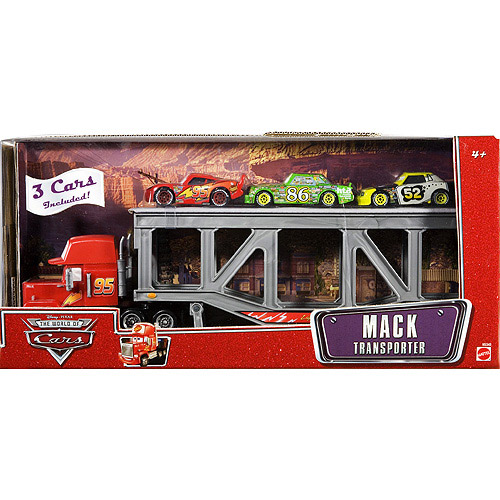 Hot Wheels <i>Cars</i> Mack Transporter with Diecast Cars