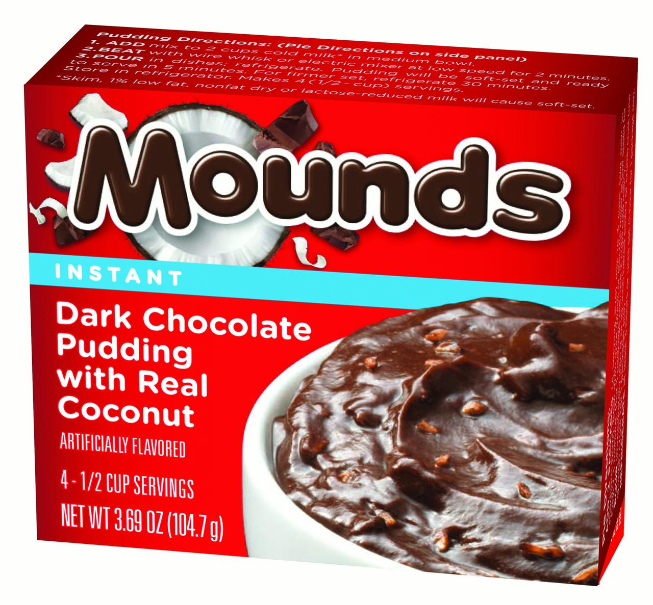 (3 Pack) MOUNDS Pudding, 3.69 Oz, 12 Ct