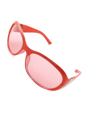 Light Color Lens Full Bright Red Frame Girls Sunglasses