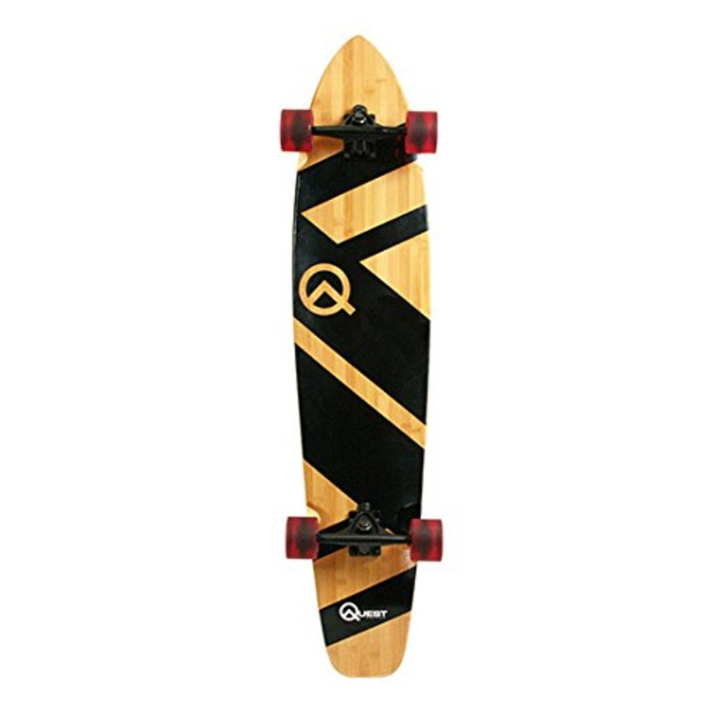 "Quest QT-NSC44C The Super Cruiser The Original Artisan Bamboo and Maple 44"" Longboard Skateboard by"