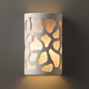 Justice Design Group Approved Cobblestones Ceramic Bisque 2-light ADA Wall Sconce