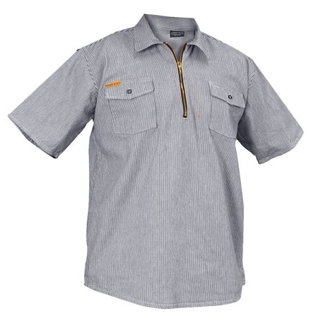 Prison Blues Short Sleeve 1/2 Zip Hickory (1/2 Zip Ls Shirt)