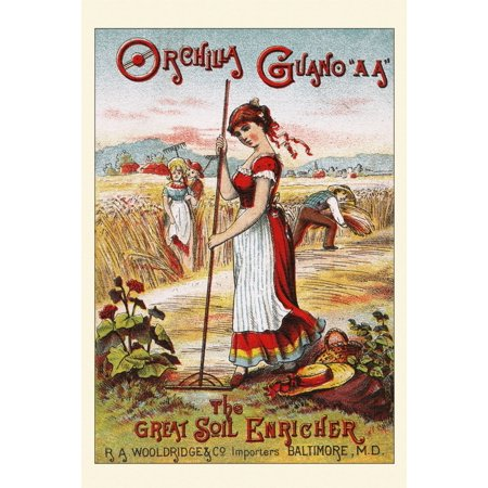 The Great Soil Enricher is the slogan on this Victorian trade card for a crop fertilizer made of guano  Guano can be bird fish or bat excrement and is