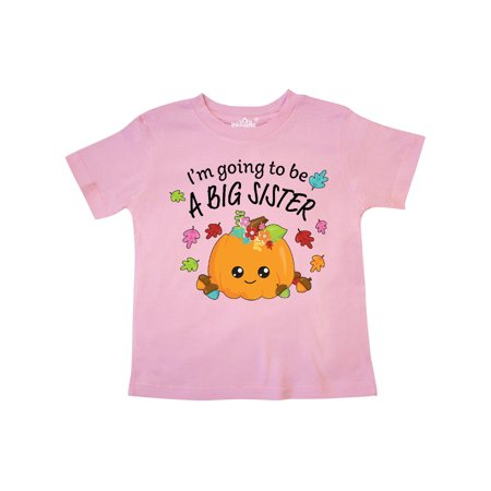 I'm Going to be a Big Sister- cute Halloween pumpkin Toddler T-Shirt