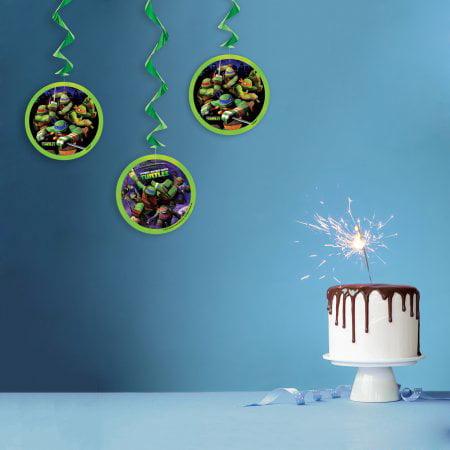 Ninja Turtle Party Decorations ((4 Pack) Teenage Mutant Ninja Turtles Hanging Decorations, 26 in,)