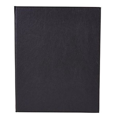Winco Lmd 811Bk  Black Leather Like Booklet Two Views Menu Cover For 8 5X11 Inch Inserts