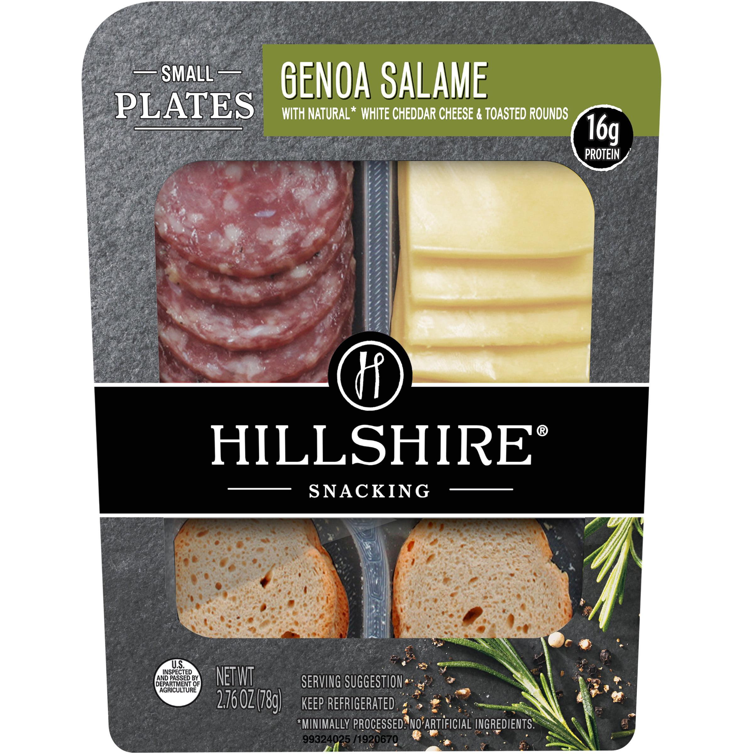 Hillshire Snacking Small Plates Genoa Salami And White Cheddar Cheese Single Serve Walmart Com Walmart Com